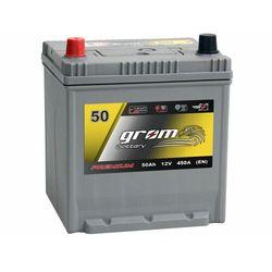 Akumulator GROM Premium 50Ah 450A EN Japan Lewy Plus DTR