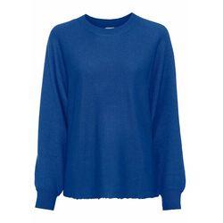 Sweter z polaru bonprix jasnoszary melanż