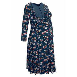 Sukienka ciążowa i do karmienia, LENZING™ ECOVERO™ bonprix ciemnoniebieski w kwiaty