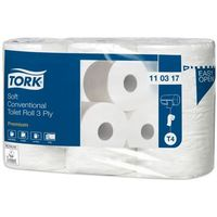 Papier toaletowy, Miękki papier toaletowy w rolce konwencjonalnej, trzywarstwowy, Tork biały