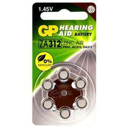 30 x baterie do aparatów słuchowych GP 312 / ZA312 / PR41