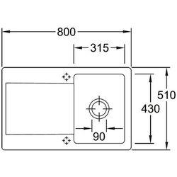 Villeroy & Boch>> Siluet 45<<333401 J0 - chromit TitanCeram