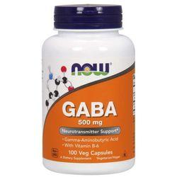 NOW Foods GABA 500 mg 100 kaps