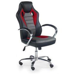 Fotel dla gracza gamingowy HALMAR SCROLL czerwono-popielaty