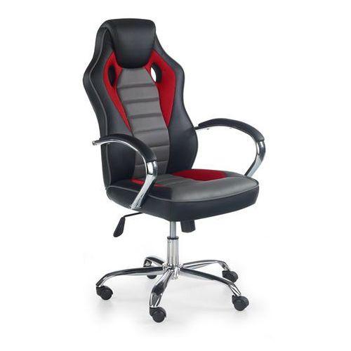 Fotele dla graczy, Fotel dla gracza gamingowy HALMAR SCROLL czerwono-popielaty