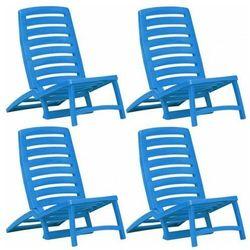 Komplet krzeseł plażowych Lido- niebieski