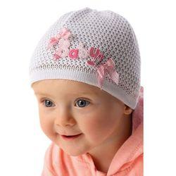 Czapka niemowlęca biała 5X34AV Oferta ważna tylko do 2019-09-18