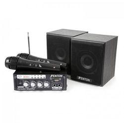AV380BT Kompletny zestaw karaoke wzmacniacz 2 x głośnik 2 x mikrofon BT SD