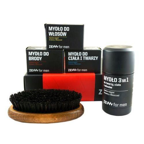 Zestawy do golenia, Zestaw Brodacza marki Zew (4 mydła + szczotka)