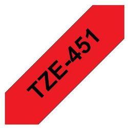 BROTHER Taśmy do drukarek TZ laminowane 24mm x 8m, czarny/czerwony