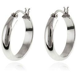 Eleganckie srebrne kolczyki gładkie koła kółka gładkie rynienki srebro 925 K2909