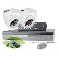 Zestawy monitoringowe, Zestaw startowy AHD, 2x Kamera HD/IR25, Rejestrator 4ch
