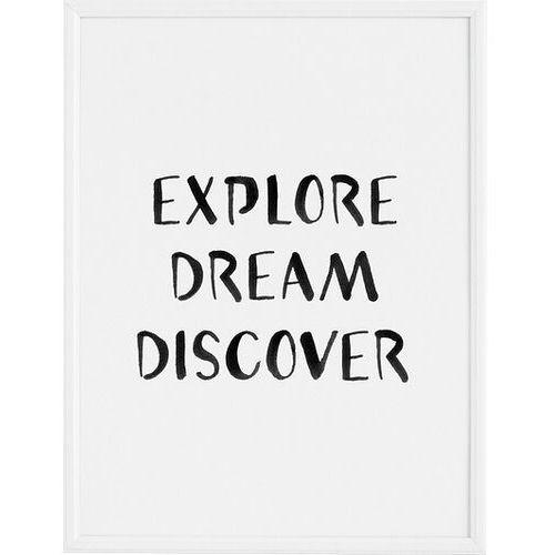 Plakaty, Plakat Explore Dream Discover 40 x 50 cm