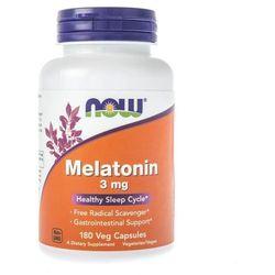 Now Foods Melatonina 3 mg - 180 kapsułek