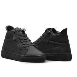 Sneakersy Sergio Leone 30022 Czarne lico