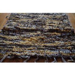 Chodnik bawełniany ręcznie tkany jasny, ciemny brąz- ecru 50x100 cm