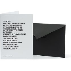 Kartka z kopertą Architects Quotes Playground