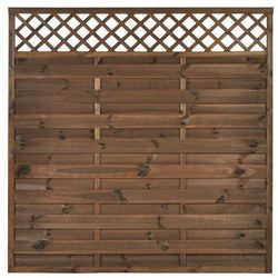 Płot szczelny z kratką 180x180 cm drewniany NIVE NATERIAL 2021-07-14T00:00/2021-08-03T23:59