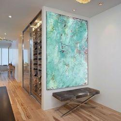 Obraz na ścianę do salonu z grubą strukturą akrylową rabat 10%