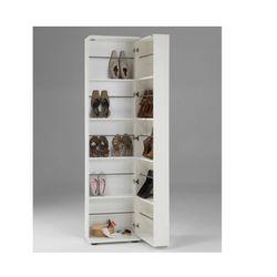 Szafka na buty WALKER - 1 szafka z drzwiczkami, 1 lustro - Biały