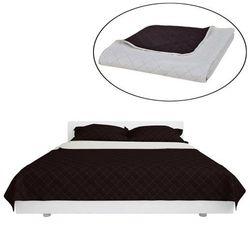 vidaXL Dwustronna pikowana narzuta na łóżko Beż/Brąz 230 x 260 cm Darmowa wysyłka i zwroty