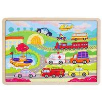 Puzzle, Puzzle drewniane - Pojazdy