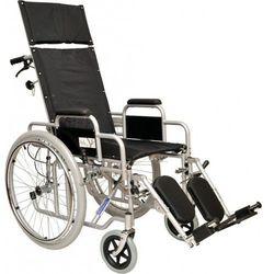 Wózek inwalidzki specjalny ze stabilizujacją pleców i głowy, z rozkładanym oparciem i podnóżkami, z szybkozłączami Classic Comfort