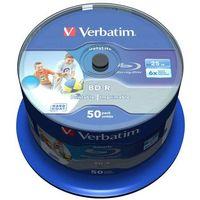 Płyty CD, DVD, Blu-ray, Płyta BD-R SL Verbatim 25GB Cake 50szt.