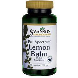 Swanson Full Spectrum Lemon Balm (Melisa lekarska) 500mg 60 kaps.