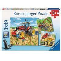 Puzzle, Puzzle 3x49 Ogromne maszyny - Ravensburger. DARMOWA DOSTAWA DO KIOSKU RUCHU OD 24,99ZŁ