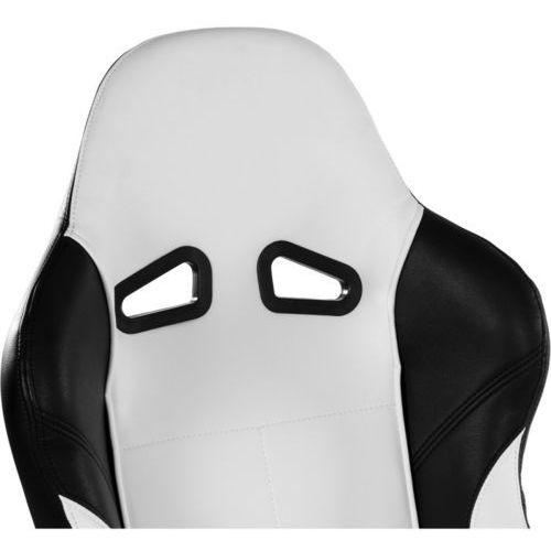 Fotele dla graczy, BIAŁY SPORTOWY FOTEL BIUROWY GABINETOWY DLA GRACZA - Biały