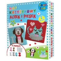 Kreatywne dla dzieci, STNUX Haft krzyżykowy kot i pies (STN-30-11)