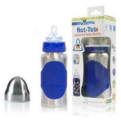 Butelka dla niemowląt Pacific Baby Hot-Tot 200ml Srebrna/Niebieska