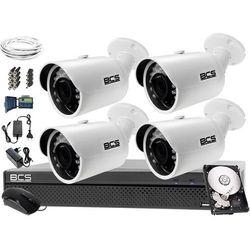 Monitoring BCS komplet BCS-CVR0401-X + 4x Kamera BCS-THC3130IR-E + Dysk 1TB + akcesoria