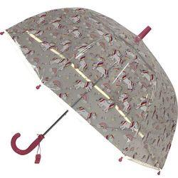Długi parasol młodzieżowy przezroczysty, jednorożec