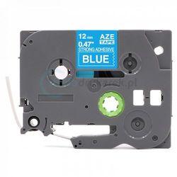 Taśma Brother TZe-S535 mocny klej niebieska/biały nadruk 12mm x 8m zamiennik