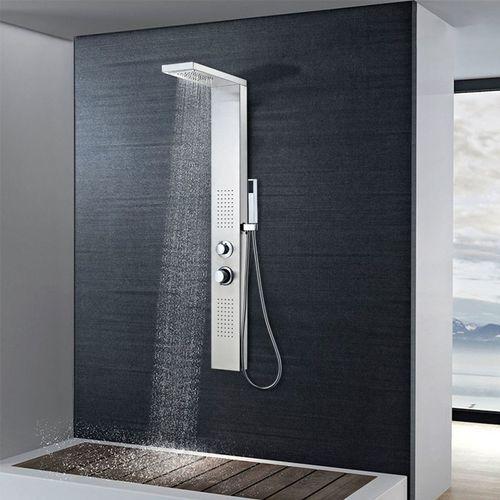 Vidaxl panel prysznicowy ze stali nierdzewnej kwadratowy