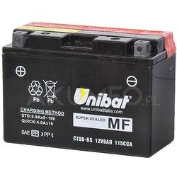 Akumulator UNIBAT AGM CT9B-BS 12V 8Ah 115A lewy+