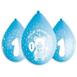 Balony z nadrukiem dla chłopca Moje urodziny - 30 cm - 5 szt.