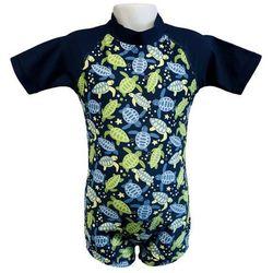 Strój kąpielowy kombinezon dzieci 76cm filtr UV50+ - Turtle Print \ 76cm