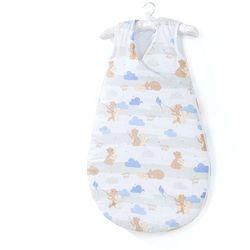 MAMO-TATO Śpiworek niemowlęcy do spania Bubble - Niedźwiadki beżowe