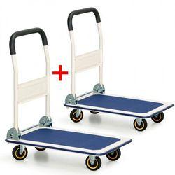 Składany wózek platformowy 1+1 GRATIS, 200 kg, platforma 735x480 mm Włóż do koszyka jedną sztukę, drugą sztukę wyślemy automatycznie gratis. Akcja trwa do wyprzedania zasobów.