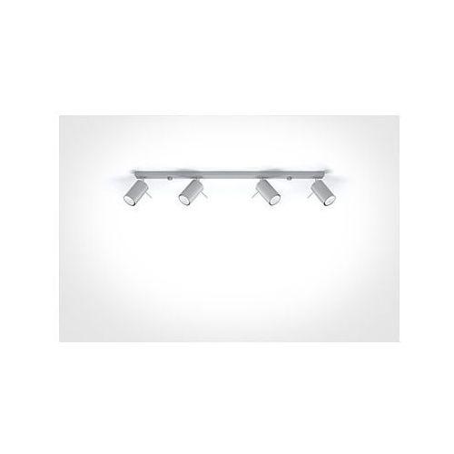 Lampy sufitowe, Listwa spot plafon Sollux Ring 4L SL.0453 oprawa sufitowa 4x40W GU10 szary