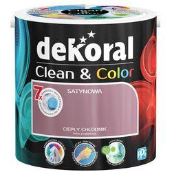 Satynowa farba lateksowa Dekoral Clean&Color ciepły chłodnik 2 5 l