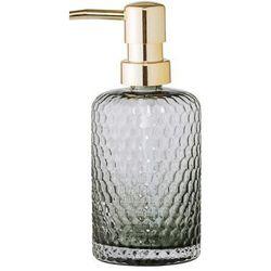 Dozownik do mydła, szare szkło, złoty - Bloomingville