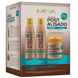 Kativa POST 3 zestaw do pielęgnacji po keratynowym prostowaniu włosów 3x250ml