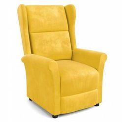 Rozkładany fotel uszak Alden 2X - musztardowy
