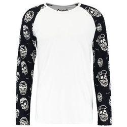 Jack & Jones JORKATO CREW NECK RAGLAN SLIM FIT Bluzka z długim rękawem white fit slim