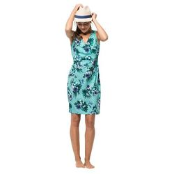Sukienka WAHIA TROPICAL DRESS aqua all over - XS