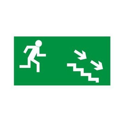 Oznakowanie informacyjne i ostrzegawcze, Znak Kierunek ewakuacji schodami w prawo w dół